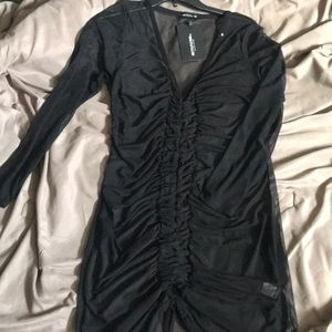 black mesh dress from Pretty Little Thing